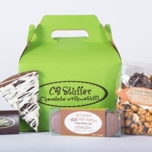 Gable Box of CB Stuffer Snacks